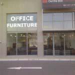 OFFICE FURNITURE - White vinyl lettering
