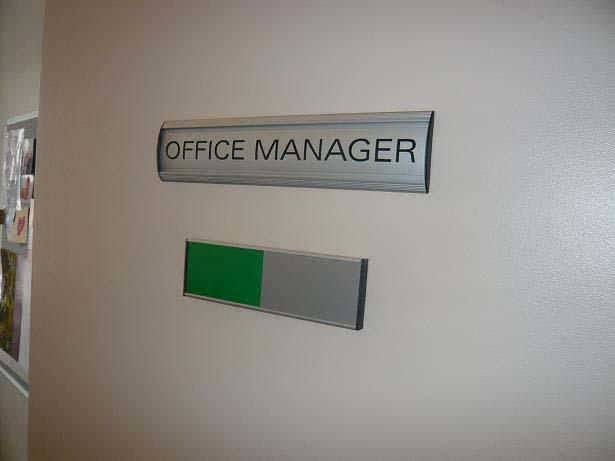 pictures of aluminium office door signs - Office Door Signs