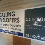 CLIFTON TERRACES - 4000 x 1500 PVC Banner with eyelets and rope