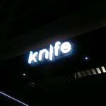 KNIFE - 3D Manufactured internally lit acrylic lettering