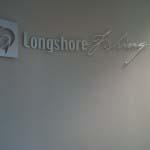 LONGSHORE - Brushed aluminium cut lettering