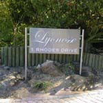LYONESSE - Laser cut Stainless steel freestanding sign