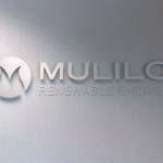 Mulilo - Brushed aluminium letters