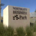 Northgate Business Park - Aluminiuim powder-coated Lettering