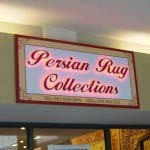 PERSIAN RUG - Acrylic cut letters backlit with LED lighting