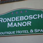 RONDEBOSCH MANOR - Timber lettering mounted to timber backing and hand painted