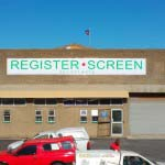 Register Screen - Chromadek boards with vinyl graphics