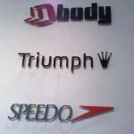 Speedo - sprayed up Alumium lettering