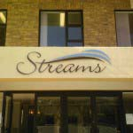 Streams - Cut Out Aluminium Lettering, sprayed to Pantone specs