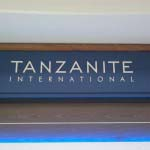 Tanzanite - 10mm Aluminium letters powder-coated white