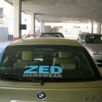 ZED - Vinyl Lettering