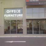 OFFICE FURNITURE - White vinyl lettering