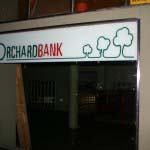 Orchard Bank - Vinyl applied to glass