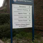 BERGVLIET HIGH SCHOOL - 5mm Aluminium powder-coated panels mounted to mild steel posts