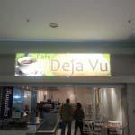 CAFE DEJA VU - Lightbox with acrylic face