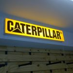 CATERPILLAR - Internally lit perspex lightbox