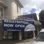 Damelin - 6m PVC Banner with vinyl logo and lettering