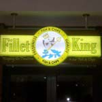 Fillet King - Acrylic manufactured lighbox mounted to framed backing