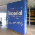 Imperial - Lettering painted onto wall