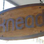 Knead - Timber Backing with Steel Letters & LED Illumination