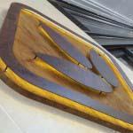 Knead - Timber and rusted Steel - Led illumination