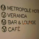 Metropolitan Hotel - Cut out brass letters with clear Perspex Backing