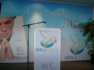 Nassiri - Digitally printed Banners mounted to Auditorium Wall and Podium