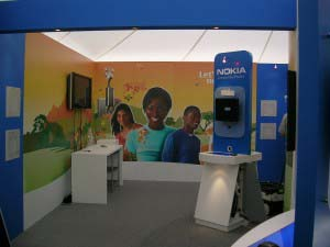 Nokia - Digital graphics applied to Exhibition stand