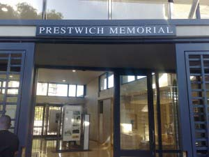 PRESTWITCH - Aluminium lettering mounted to aluminium backing