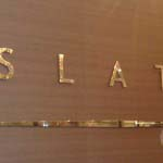 SLATE - Mirror polished Stainless Steel letters