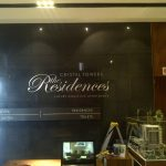 The Residences - Brushed aluminium cut letters with 3mm clear acrylic cut backing