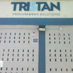 Tristan - Aluminium letters sprayed to Pantone Specs