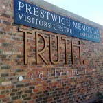 Truth - Aluminium and timber lettering