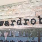 Wardrobe - Cut out timber lettering