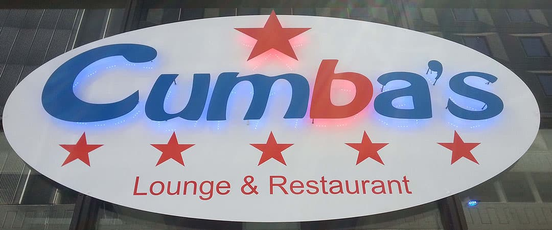 cumbas's restaurant logo sign