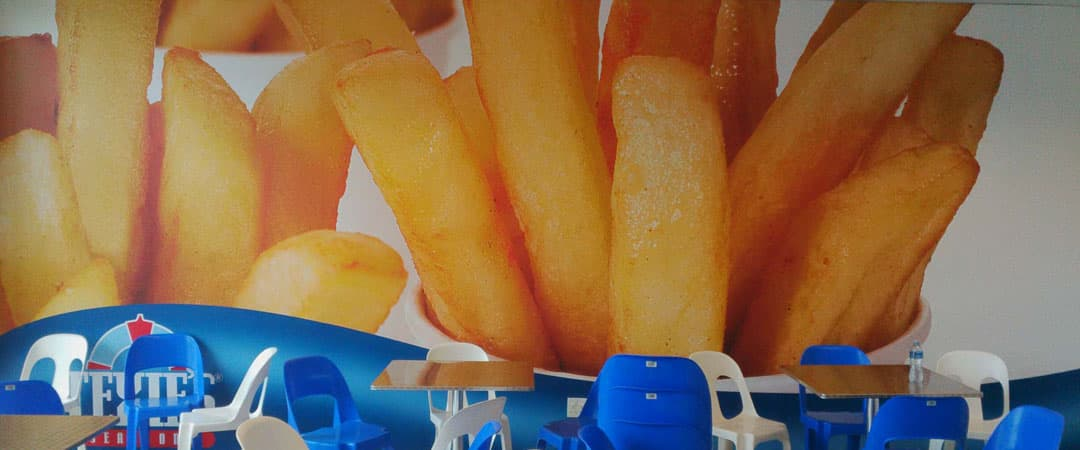 french fries wall banner