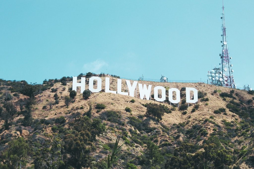 Hollywood White Sign