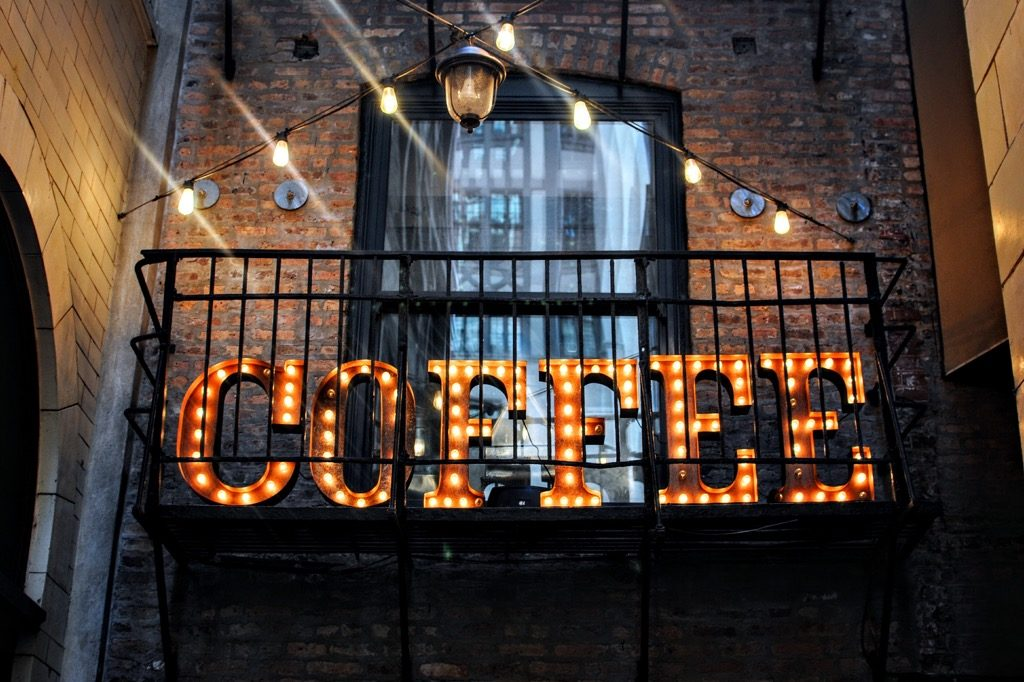 Illuminated Coffee Sign